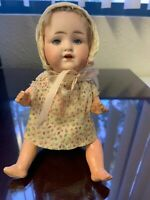 "Antique  German Bisque Head 8"" Armand Marseille Baby Doll Mold 990"