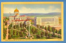 Pennsylvania - Harrisburg, State Capitol And Office Bldg.From Penn-Harris Hotel