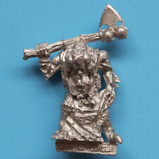 Games Workshop Warhammer Chaos Champion of Nurgle Fly Head With Axe Metal