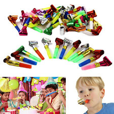 Dazzling Toys 24 Pieces Party Foil Whistle Blower Toddler Party Bag Filler Favor