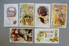 Thanksgiving Antique Vintage Reproduction Postcard Lot 6  New Turkey Pilgrim