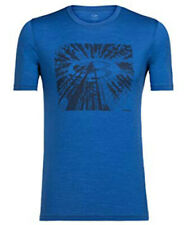 Icebreaker Tech Lite Ss Crew Shirt (M) Tree Top Logo / Sea Blue