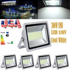 5X 300W Watts Outdoor LED Wall Wash Flood light White High Power Spotlights 110V