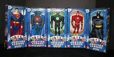 "2003 JUSTICE LEAGUE Action Figures SET DC Comics 10"" Mattel FLASH BATMAN MARTIAN"