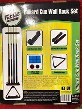 NEW Fat Cat Billiard Pool Stick Cue Wall Rack Set, Brush Triangle Chalk