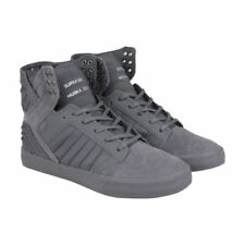 Baskets skytops gris SUPRA pour homme