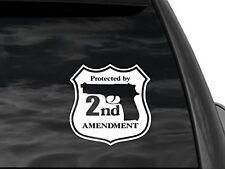 "Second amendment security Car truck window decal sticker 6""x6"""