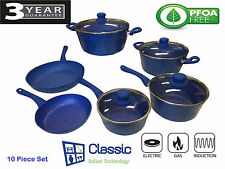 NEW 10 Piece Non-Stick PFOA FREE Marble Stone Cookware Set