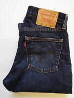 LEVIS 751 JEANS MENS CLASSIC STRAIGHT LEG W30 L32 DARK BLUE STRAUSS LEVJ301  #