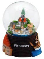 Schneekugel Flensburg Stadtansicht,Kirchturm,Snowglobe Germany Souvenir