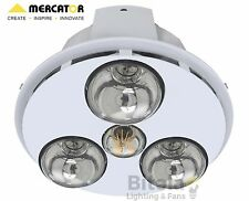 NEW MERCATOR SPECTRA TRIO LED BATHROOM 3-IN-1 HEATER/EXHAUST FAN/LIGHT WHITE