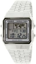 CASIO Vintage Retro Silver A500WA-7 A500WA-7 World Time Map Display @