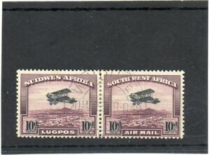 SG 87 SOUTH WEST AFRICA..AIR MAIL. FINE USED PAIR. CAT £90