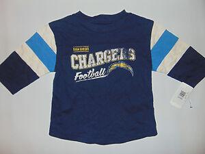 San Diego Chargers NFL Football Short Sleeve Shirt Youth Sz 3T NEW Sample HOLE**