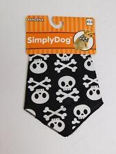 Simply Dog Skull Printed Pet Bandana Halloween Dog Costume Size XS/Small #7049