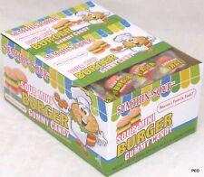 Sour Mini Burger Gummy Candy Fruit Flavored Gummi Novelty Bulk 60 Count Box