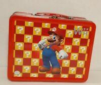 Nintendo Wii Super Mario Bros Tin Metal Lunch Box Carrying Case Box