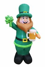 BZB Goods 6 Foot Tall Lighted St Patricks Day Inflatable Leprechaun Holding S...