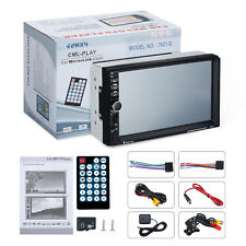 """Excelvan 7021G 7"""" HD reproductor de coche MP5 con GPS de navegación-Negro"""