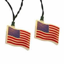 KURT S. ADLER USA FLAG 10 LIGHT SET PATRIOTIC PARTY LIGHT CHRISTMAS DECORATION