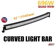 """7D 42"""" 696W Curved Led Work Roof Light Bar Spot Flood Driving For Truck Boat Suv"""