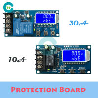 10/30A 6-60V Lithium Battery Charge Protection Board NC Control Module LCD