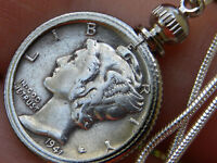 Necklace Pendant Vintage silver Mercury dime coin VARIOUS date nice gift for her
