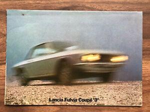 Lancia Fulvia S3 1300 Coupe Car Brochure 1974 / 75