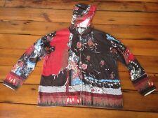 Leo Nicole Asian Zip Up Cotton Knit Hoodie Sweatshirt Sweater Womens 2XL XXL