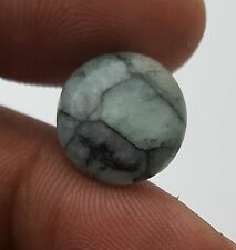 Natural Emerald Unheated/Untreated Round Loose Cabochon 14.50 Mm 6.80 Ct