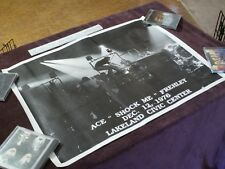 """POSTER 19"""" X 25"""" KISS ACE FREHLEY Shock Me December 12th 1976 Lakeland RARE"""
