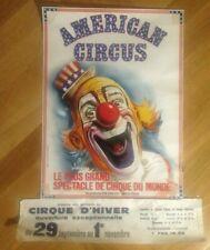 affiche cirque zirkus circo clown Bouglione cirque d'Hiver American circus