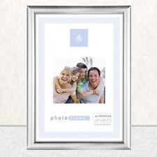 A4 Cadre Photo Certificat Mur & Bureau Montable Argent sans Noir