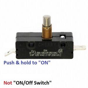 SNAP SWITCH  SPDT  25 AMP  125-250V  Single Pole; Metal E14 -01 Cherry PUSH ON