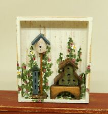 Vintage Barbara Kalty Birdhouse Shadowbox Artisan Dollhouse Miniature 1:12