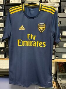 Adidas Arsenal Third Jersey 19/20Navy Yellow Stadium Cut Size Men Small Only