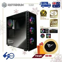 PC Case Gaming Full ATX Tempered Glass with 4x120mm ARGB Cooler Fan+Controller