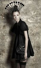 SALE BNWT Aussie designer GAIL SORRONDA Black silk cotton mesh Confetti Dress XS