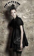 BNWT Aussie designer GAIL SORRONDA Black silk cotton mesh Confetti Dress