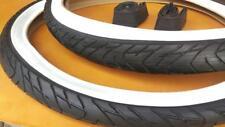 Two Beach Cruiser White Wall Bicycle Tires 26x2.125 & 2 Inner tubes Road Chopper