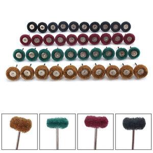 40pcs 25mm Scotch Brite Scouring Pad Polishing Mop 3mm Shank Nylon Fiber Wheel
