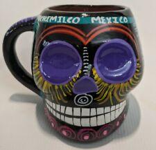 New listing Sugar Skull Coffee Mug Day Of The Dead Purple Eyes Halloween Xochimilco Mexico