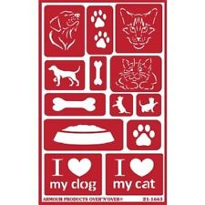 Armour Reusable Over n Over Glass Etching Stencil - ONO Paws Dog Cat Pet