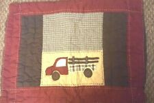 Pottery Barn Kids TRUCK Standard SHAM brown red