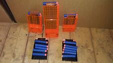 NERF MAGAZINE CLIPS ELITE LOT TRANSPARENT CUSTOM PAINTED CLIPS 50 DARTS IN TOTAL