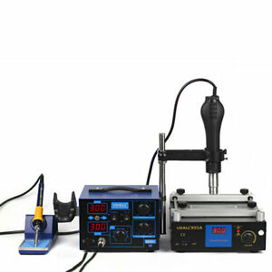 862D+ 853A BGA Rework Station Hot Air Gun Soldering Iron Preheating Station
