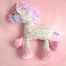 """Marks Spencer pink pony horse floral soft baby toy plush comforter 12"""" M&S"""