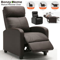 Manual Recliner Chair push back chair Dual-function  Air Leather recling Seating