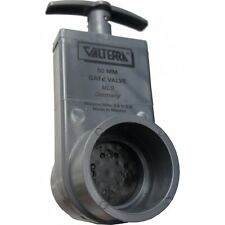 Absperrschieber für PVC-Rohr 63 mm innen Klebemuffen für Pool und Teich