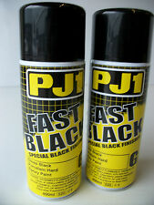 2 x Pj1 Gloss Black Motorcycle Paint Frame Metal Tank Swingingarm Motocross